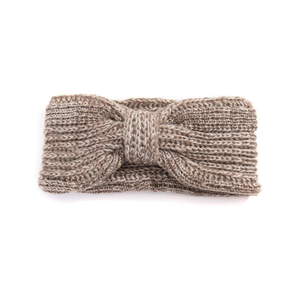 Fashion YOU WANT Damen Stirnband mit Schleifenmuster geflochten mit Perlen Glitzer oder Uni Gestrickt Stirnband Häkelarbeit Schleife Design Winter Kopfband Haarband Trend 2018
