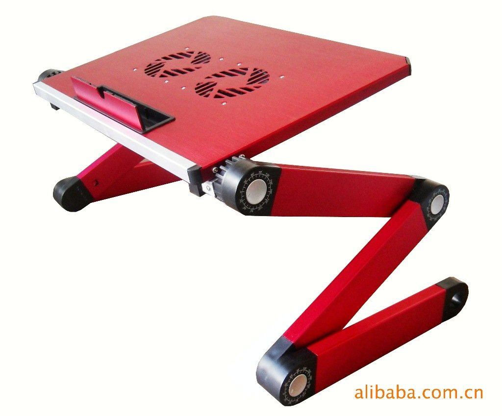 Qiaoba- Bed computer desk __ Notebook Lapdesk aluminum alloy computer desk folding tables bed