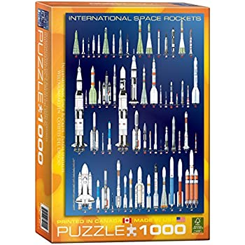 EuroGraphics International Space Rockets Puzzle (1000-Piece)