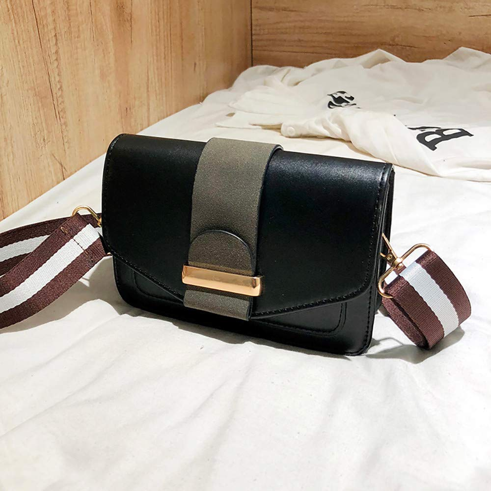 Small Bag Contrast Color Shoulder Bag Wild Messenger Bag SamMoSon 2019 Women Messenger Bag