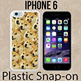 Mr Doge MEME Custom made Case/Cover/skin FOR iPhone 6 -White- Plastic Snap On Case ( Ship From CA)