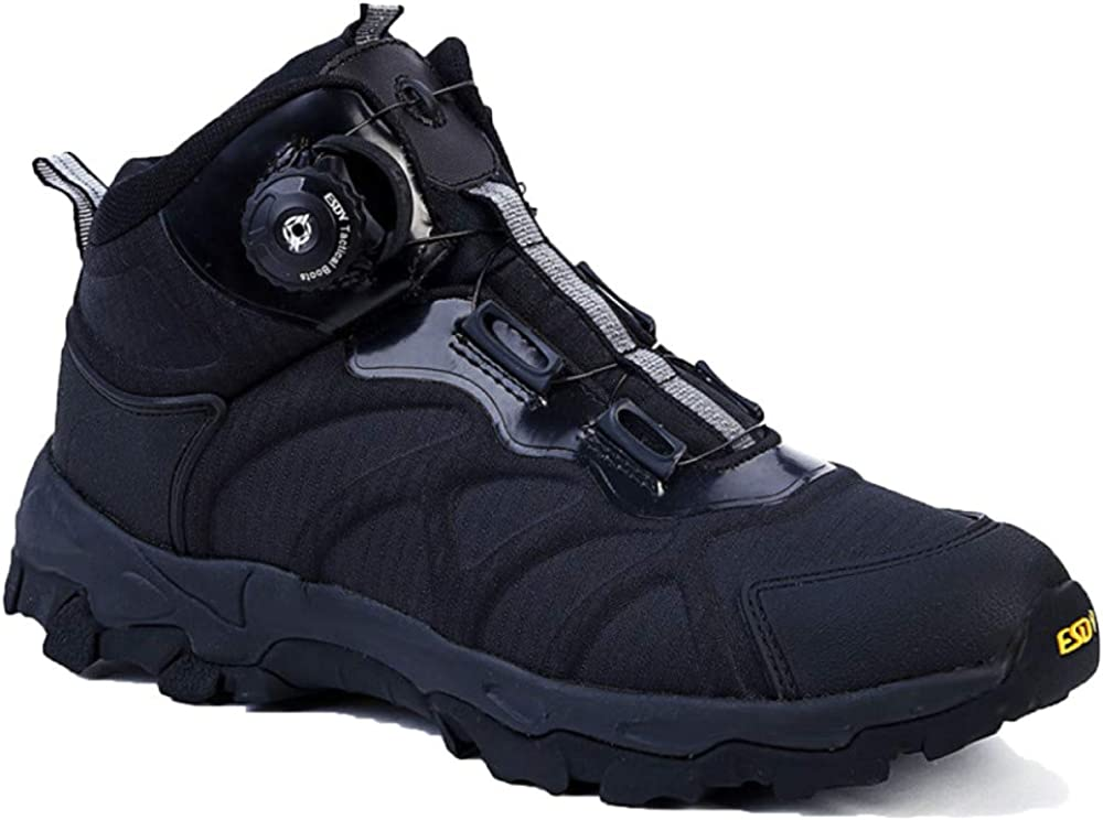 59874 Winter Hiking Shoes Lace Up Non Slip Leather Safety Boots Outdoor Snow Boots Quick Reaction Boots Blue