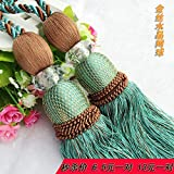 European Style Tennis Ball Crystal Curtain Hanging Ball Lashing Ball Bandage Decoration Tassel Lobbing Hanging Ear Free Delivery^