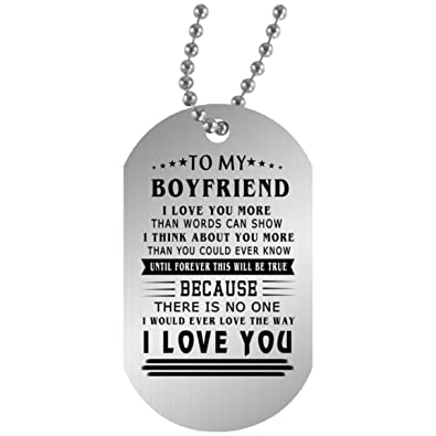 To My Husband Boyfriend Dog Tag Necklace Chain