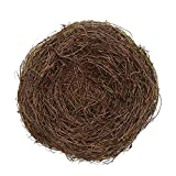 2Pcs 8″ Natural Rattan Birds Nest Spring Decoration Props Garden Yard Home Review