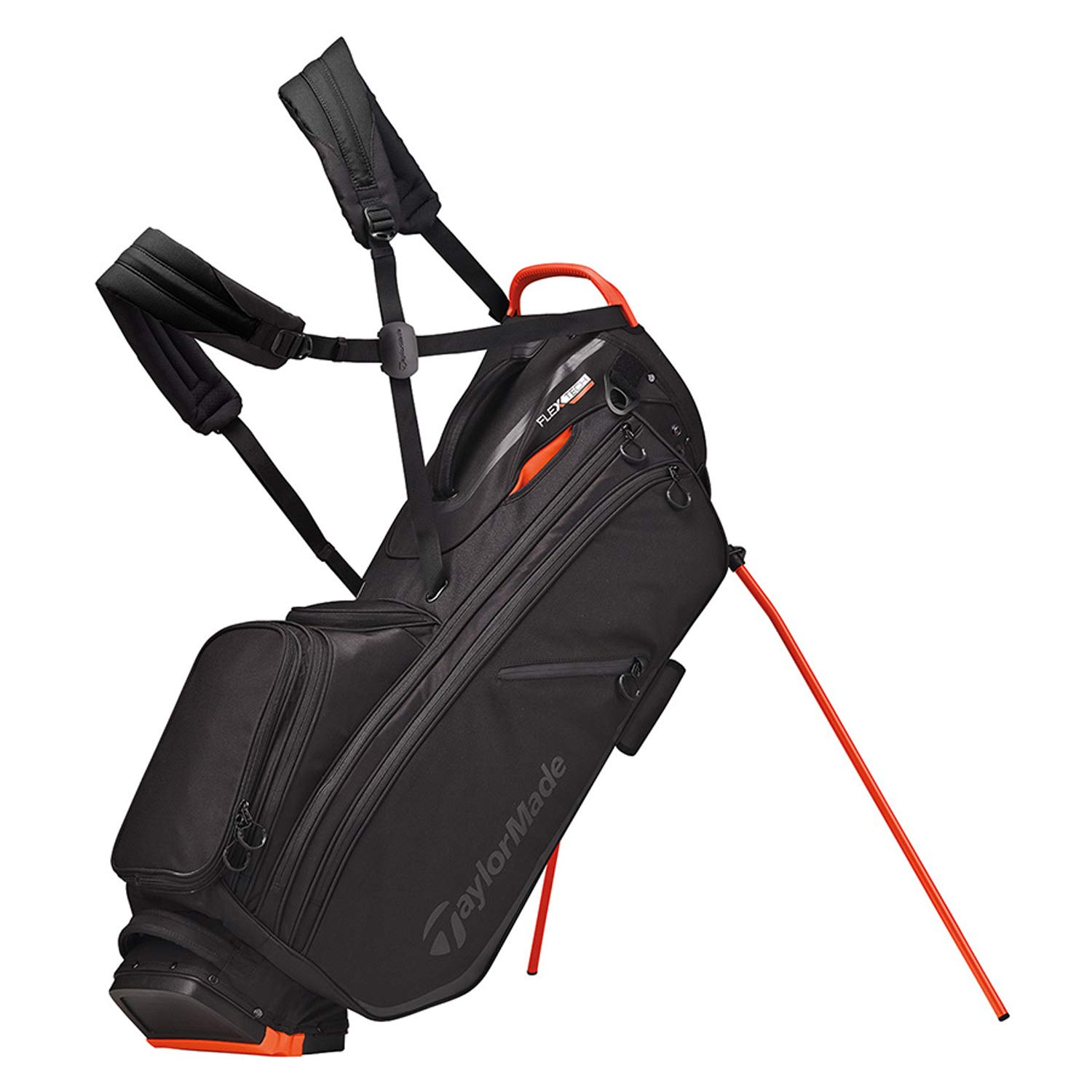TaylorMade 2019 Flextech Crossover Stand Golf Bag, Black/Blood Orange