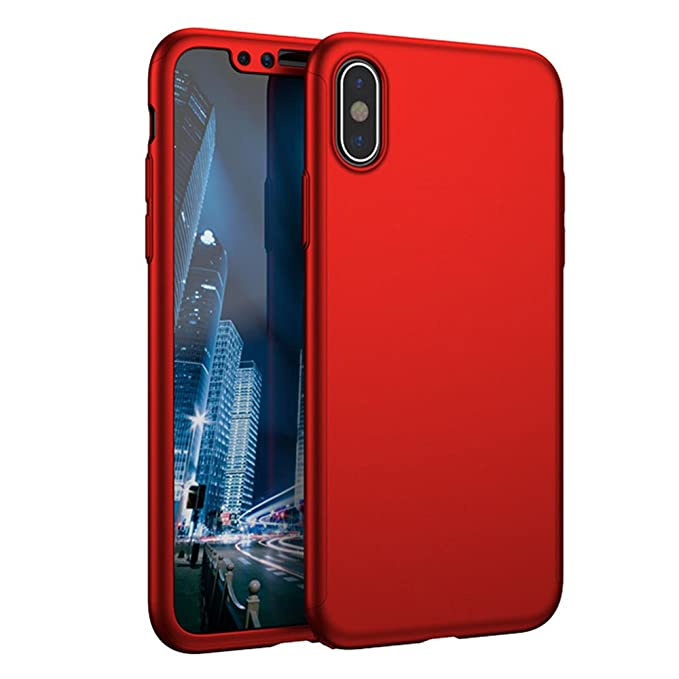 new styles 03ff4 be058 Amazon.com: iPhone X 360° Full Body Case, Mosafe Ultra Thin Slim ...