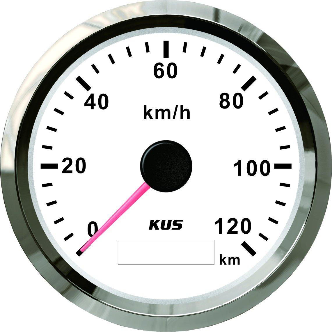 Kus Wasserdicht GPS Tacho Kilometerzä hler Gauge 120 km/h mit Hintergrundbeleuchtung fü r automatische 85 mm