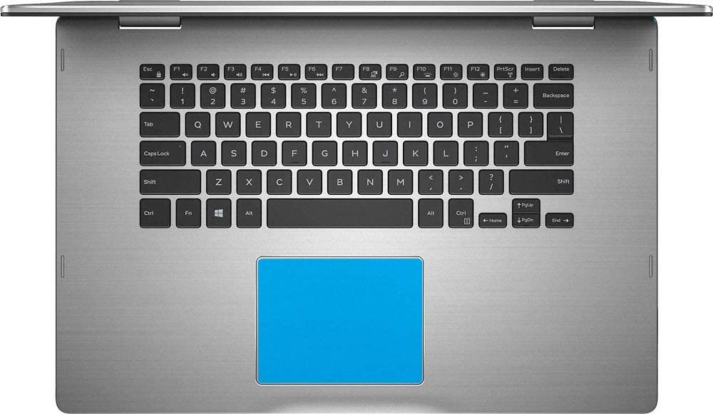 BingoBuy 5-packs Customized Trackpad Touchpad Decorative Cover Skin Protector Sticker for 15.6'' Dell Inspiron 15-7569 15-7579 i7569 i7579 (shimmery light blue)