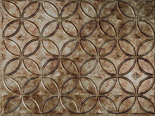 Amazon Com Celestial Backsplash Tiles Decorative Wall Paneling Bermuda Bronze 18 X24 Home Kitchen