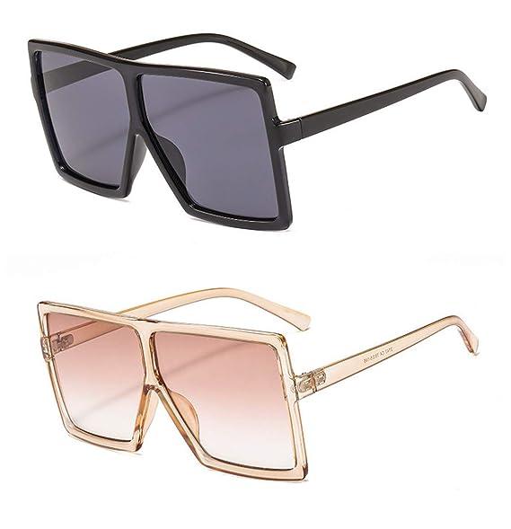 Amazon.com: YESPER Gafas de sol de gran tamaño para mujeres ...