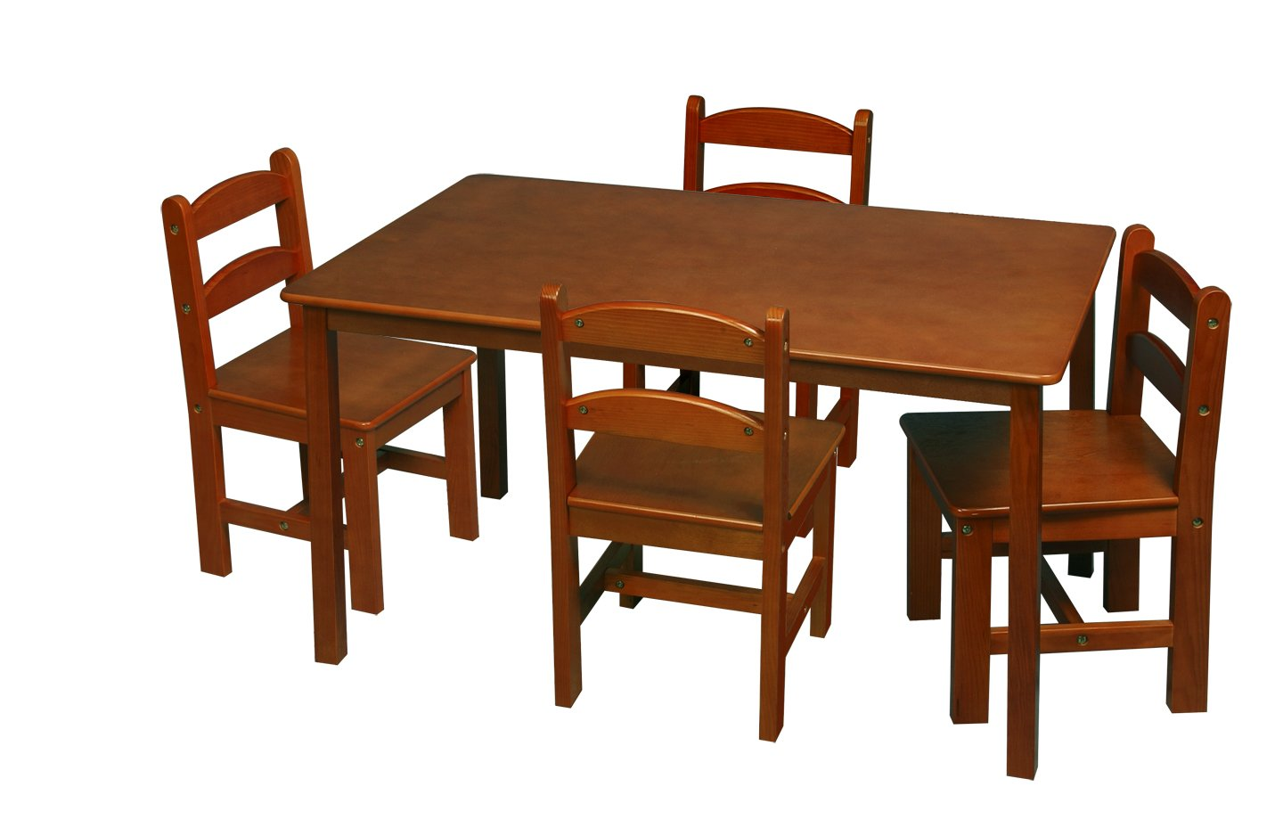 Amazon Gift Mark Rectangle Table Set with 4 Chairs Espresso