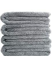 Polyte Quick Dry Lint Free Microfiber Bath Towel, 57 x 30 in, Set of 4 (Gray)