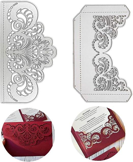 Stanzschablone Blumen Rechteck Weihnachten Hochzeit Geburtstag Karte Album DIY