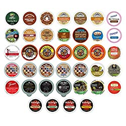 40-count Coffee, Hot Chocolate & Tea Single Serve Cups for Keurig K Cup Brewers Variety Pack Sampler by Coffee Sumo