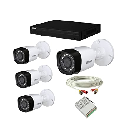 Dahua set of 4 Bullet CCTV camera with 4 Ch DVR along with all