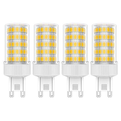 4X G9 Bombillas de LED 10W Bombillas Lámpara Blanco Cálido 3000K 86 SMD 2835LED Super Brillante