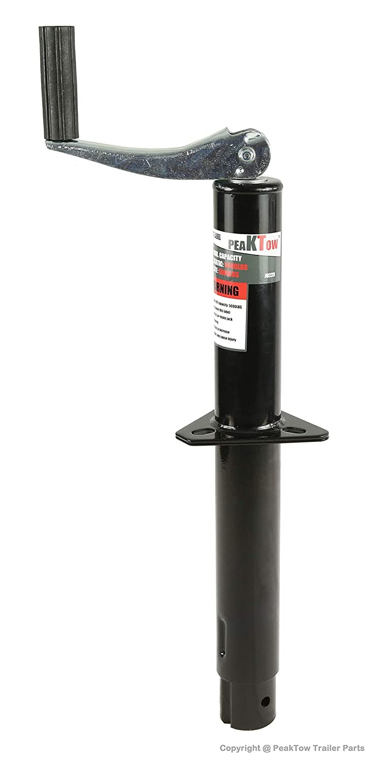 PeakTow 5000 Lbs With Drop Leg Capacity A-Frame Top Wind Trailer Jack