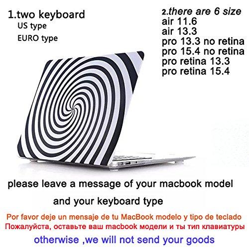 Amazon.com: Black & White New Design Laptop Case For Macbook Air 11 13 Inch Cover Skinfor Macbook Pro Retina 13 15^2.Fro Pro 13 No Retina: Computers & ...