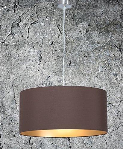 Klassische Hängelampe | Hochwertige Hängeleuchte | Braun Gold | XXL |  Pendelleuchte | Lampe | Wohnzimmer