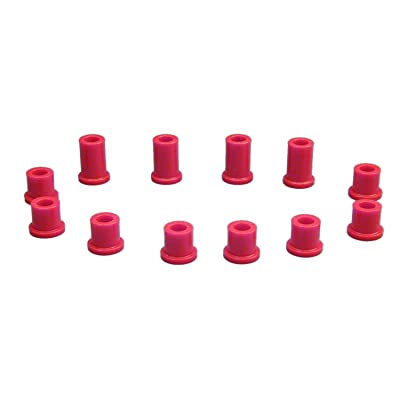 Prothane 18-1004 Red Front Spring Eye and Shackle Bushing Kit