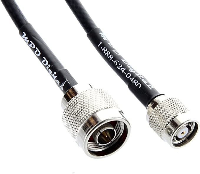 50 ohm us made  LMR-240 3 FT cnt-240 N Male to  TNC R//P Male coax cable