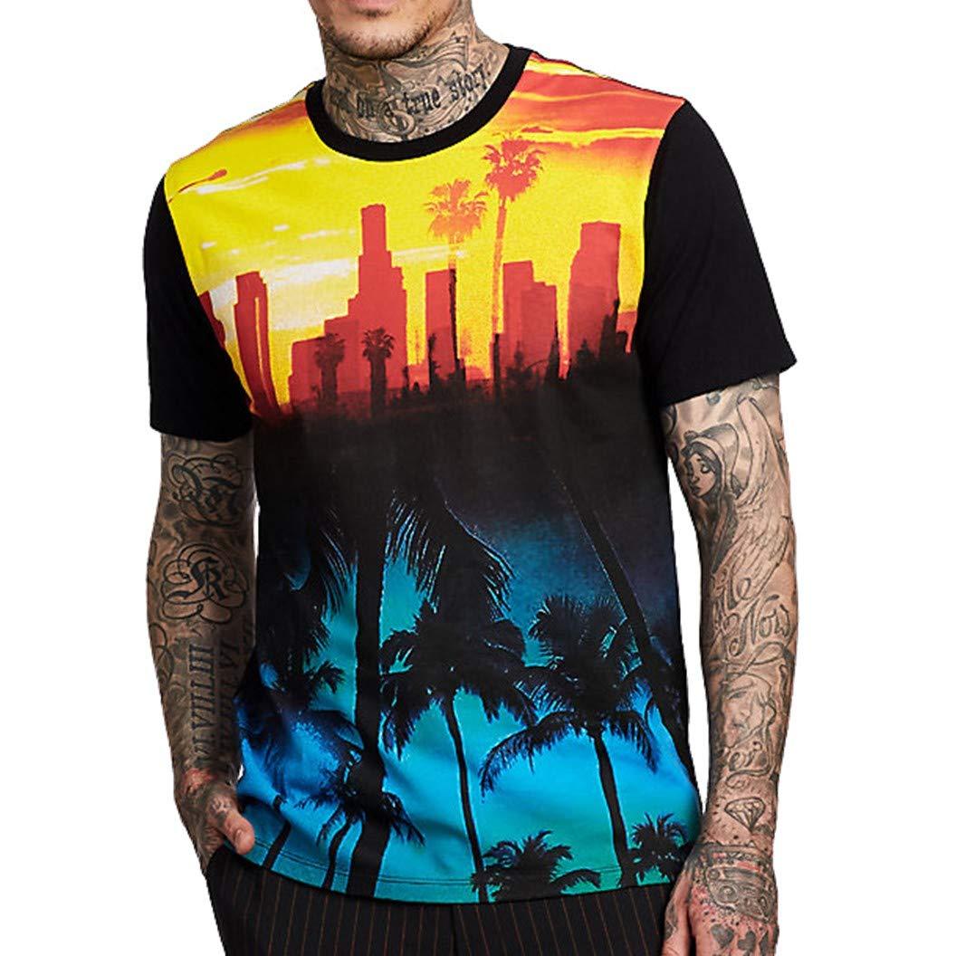 True Religion Men's Sunset City Buddha Tee T-Shirt