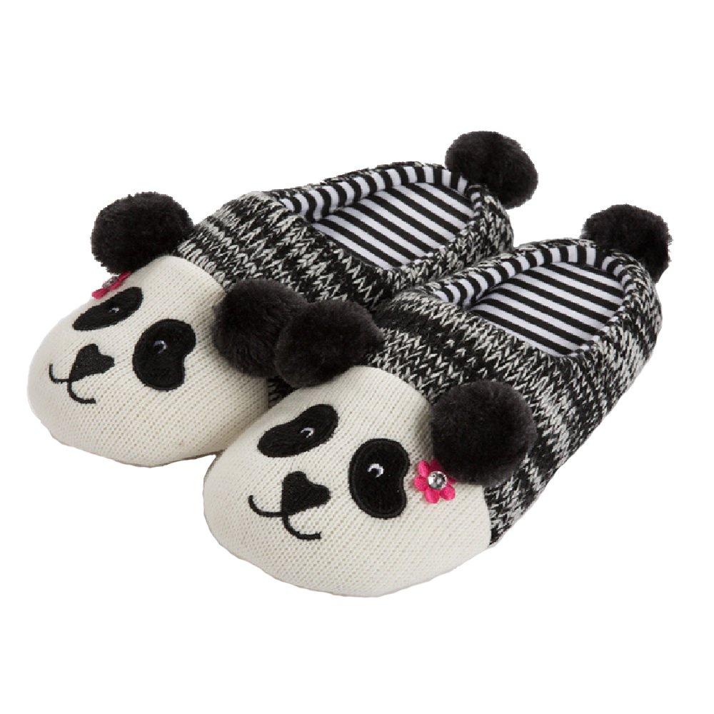 Tofern Unisexe Famille Chaussons Panda antidérapant Coton EVA éponge Chaud Automne-Hiver Pantoufles...