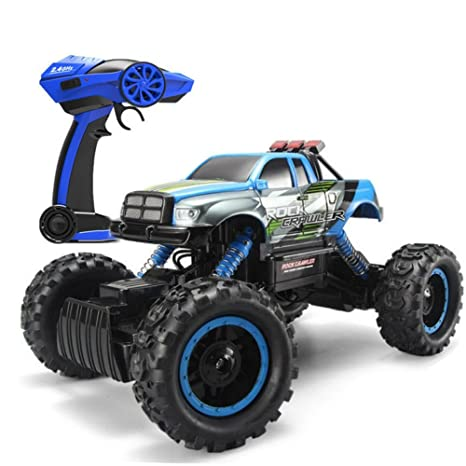 569b8cca16b Amazon.com  Blexy RC Car Rock Climber 2.4Ghz 4WD Remote Control Vehicle 1 14  Off-Road Electric Racing Monster Truck Toy  Toys   Games