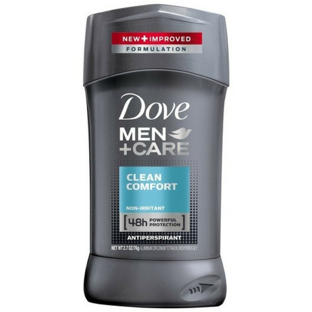 Dove Men+Care Antiperspirant Deodorant Stick Clean Comfort 2.7 oz (Pack of 8)