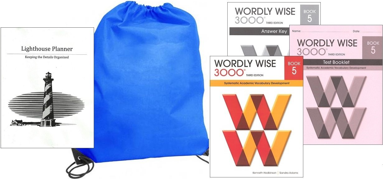 Read Online Wordly Wise 3000 Grade 5 SET homeschool kit in a bag pdf