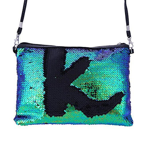 for Gold Purse Bag Ladies Handbag Glitter Shoulder Green Evening Women Clutch Shoulder Bag Purse Sequin aUHnq0U
