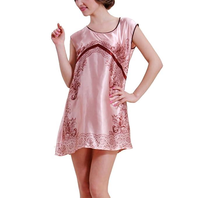 best authentic 50cf0 f442b Leben Damen Bedruckt Designer Rundhalsausschnitt Nachthemd ...