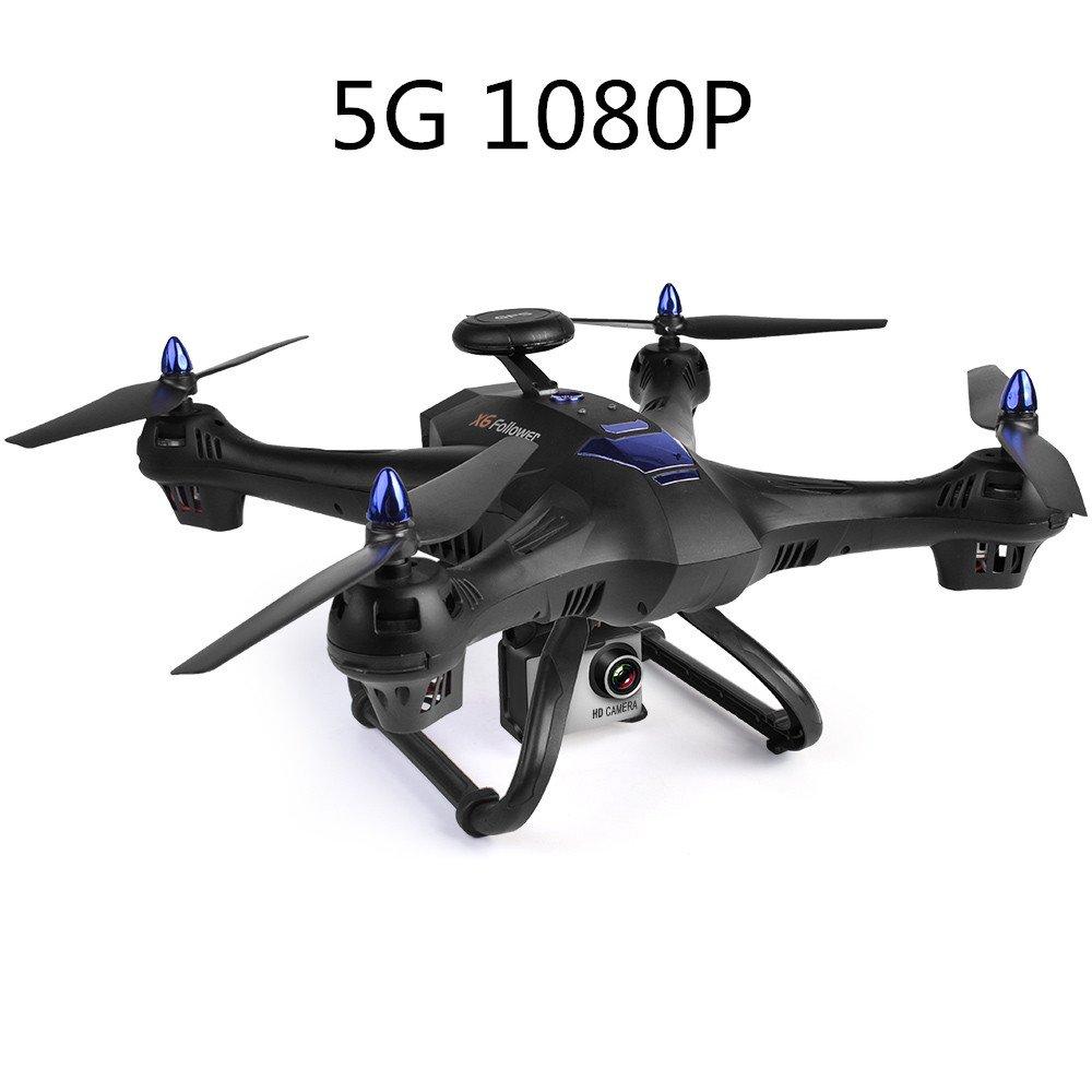 Drone Quadcopter Zángano Profesional con Controlador Remoto Aéreo y GPS Wi-Fi PFV X183s 5G con 720P Píxeles Camara UAV de 4 Ejes