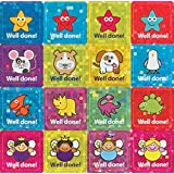 """The Sticker Factory 12 mm Square """"Well Done!"""" Mini Sparkly Sticker (Pack of 468 Stickers)"""