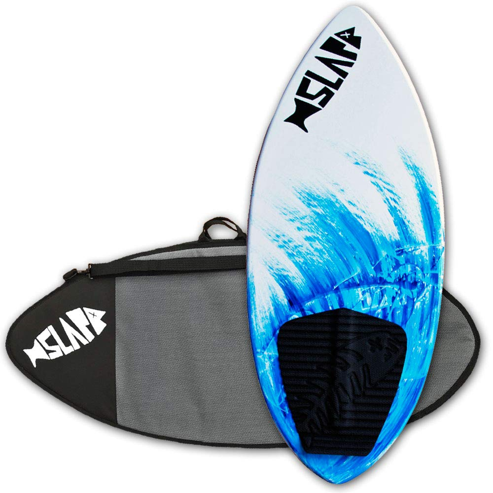 Slapfish Skimboards - Fiberglass & Carbon with Traction Deck Grip - Kids & Adults - 2 Sizes - Blue (41'' Board & Bag)
