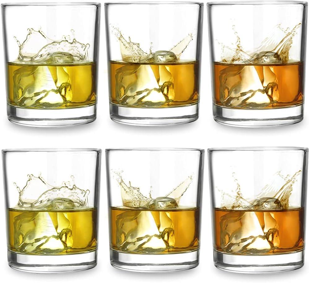 ELIDOMC Italian Crafted 6Pcs Old Fashioned Whiskey Glasses, 11Oz Whiskey Glasses For Drinking Bourbon Scotch Cocktail Irish Whisky, Premiun Old Fashioned Glasses Set of 6