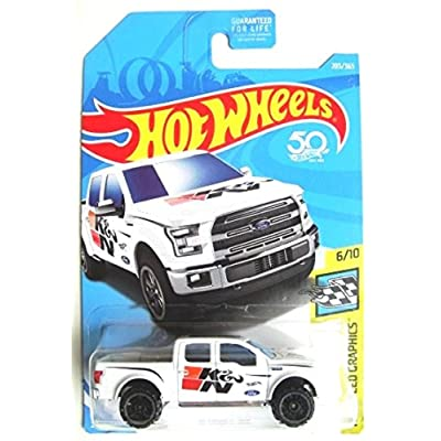 Hot Wheels 2020 50th Anniversary HW Speed Graphics '15 Ford F-150 203/365, White: Toys & Games