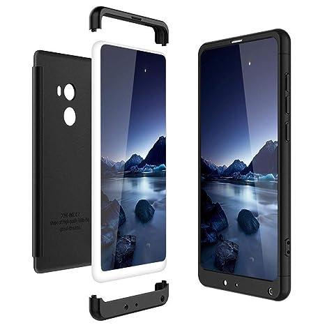 Solaxi Funda Xiaomi Mi Mix 2 Carcasa Mate 3 en 1 360 Grados Cuerpo Completo Ultra Delgado PC Duro Superficie Antigolpes Anti-Arañazos [Protección ...