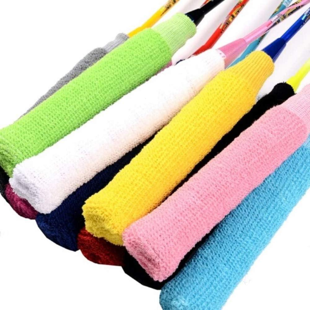 Sendk Badminton Racket Grip Cover,Elastic Anti-Slip Washable Sweat Badminton Racket Grip Cover,Absorption Towel Wrap for Tennis Fishing
