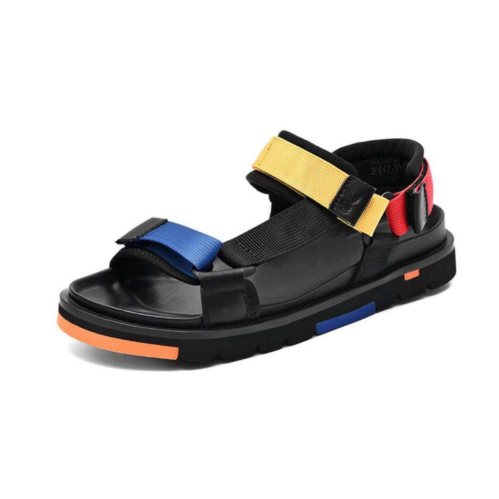 CHENGXIAOXUAN Breathable 2018 Bequeme Sandalen der Männer 2018 Breathable Neue Sommer Strand Schuhe Koreanische Outdoor-Persönlichkeit Lässig Sandalen Farbe a1abc9