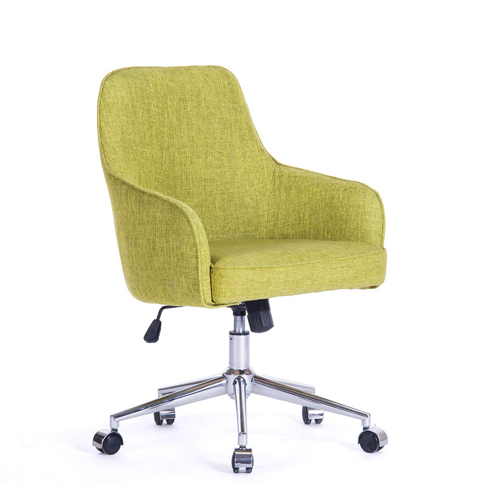Home Office Computer Desk Chair Comfort Swivel Fabric Task Chair With Arms  And Adjustable Height, Suitable For Computer Working And Meeting And  Reception ...