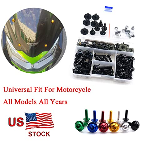 For Kawasaki Ninja ZX10R ZX 10 R ZX 10R 2004 2005 CNC Fairing Bolt Kit Bodywork Screws M5 M6