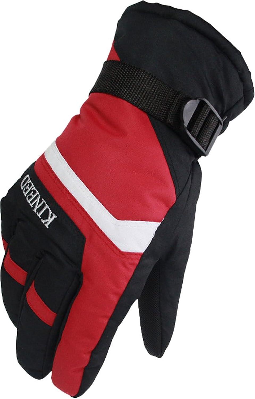 andyshi Herren Fashion 404717HC Weich und warm Fleece Ski Outdoor Handschuh