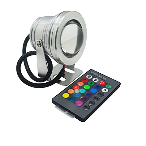 Rgb 10w 12v Led Underwaters Lamp Pool Light Piscina Aquarium Fountain Light Led Underwater Lighting With 24keys Remote Control Led Lamps