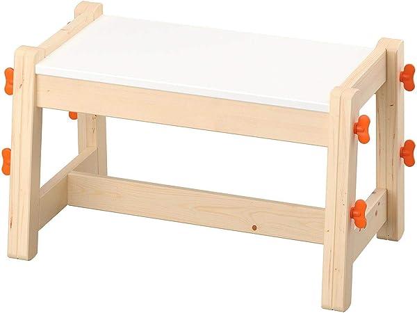 Ikea Banc Pour Enfant Flisat Peut Etre Utilise Comme Siege Pendant Plusieurs Annees Car Il Dispose De Trois Hauteurs Reglables Et Reglables En Hauteur Amazon Fr Cuisine Maison