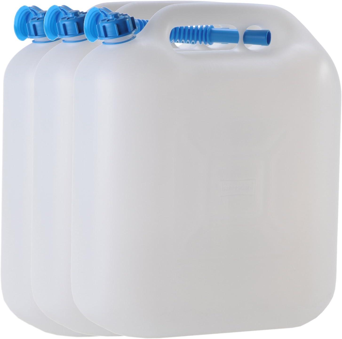 3x Wasserkanister ECO 10 Liter mit Rohr NEU 3er Set Camping-Kanister Wassertank