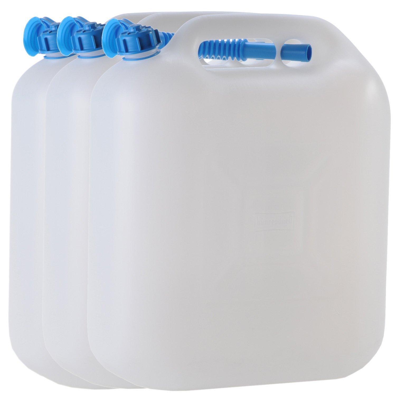 3x Wasserkanister ECO 20 Liter mit Rohr 3er Set Kanister Camping Wassertank NEU