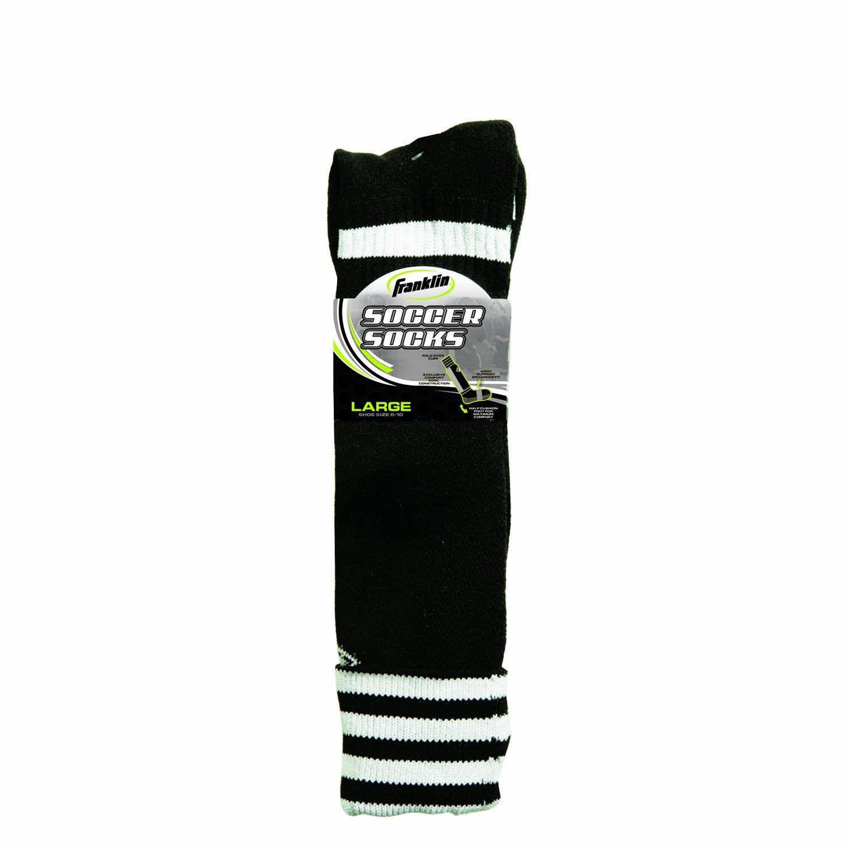 Franklin Sports ACD Soccer Socks (Black/Youth Medium)