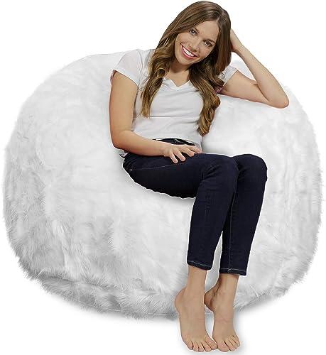 Chill Sack Chair: Giant 4' Memory Foam Furniture Bean Bag Big Sofa